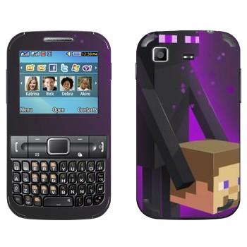 Виниловая наклейка «Enderman и голова - Minecraft» на телефон Samsung C3222 Duos