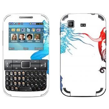 Виниловая наклейка «Final Fantasy 13 синее и красное» на телефон Samsung C3222 Duos
