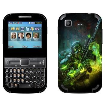 Виниловая наклейка «Ghost - Starcraft 2» на телефон Samsung C3222 Duos