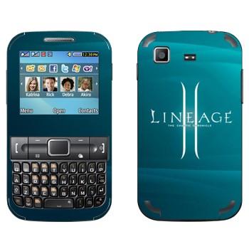 Виниловая наклейка «Lineage 2 логотип» на телефон Samsung C3222 Duos