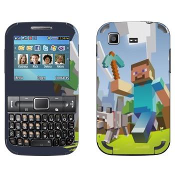 Виниловая наклейка «Minecraft Adventure» на телефон Samsung C3222 Duos