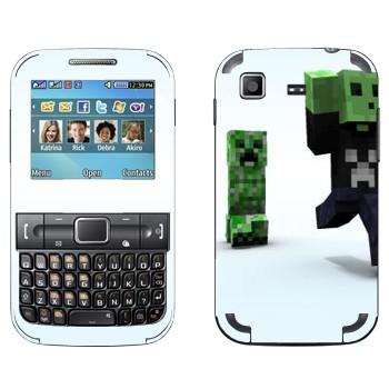 Виниловая наклейка «Minecraft крипер» на телефон Samsung C3222 Duos