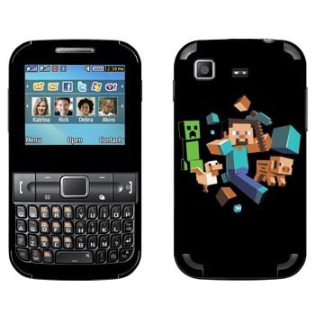 Виниловая наклейка «Minecraft» на телефон Samsung C3222 Duos
