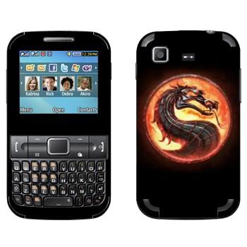 Виниловая наклейка «Mortal Kombat эмблема» на телефон Samsung C3222 Duos