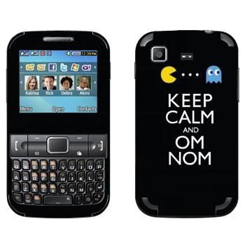 Виниловая наклейка «Pacman - om nom nom» на телефон Samsung C3222 Duos