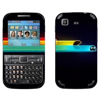 Виниловая наклейка «Pacman ускорение» на телефон Samsung C3222 Duos