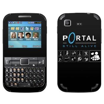 Виниловая наклейка «Portal - Still Alive» на телефон Samsung C3222 Duos