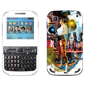 Виниловая наклейка «Portal 2 коллаж» на телефон Samsung C3222 Duos