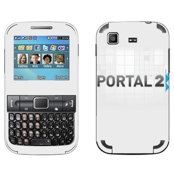 Виниловая наклейка «Portal 2 логотип на белом фоне» на телефон Samsung C3222 Duos