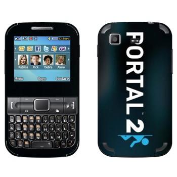 Виниловая наклейка «Portal 2 логотип вертикальный» на телефон Samsung C3222 Duos