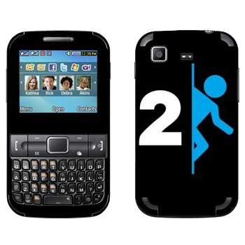 Виниловая наклейка «Portal 2 логотип» на телефон Samsung C3222 Duos