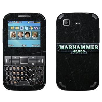 Виниловая наклейка «Warhammer 40000» на телефон Samsung C3222 Duos