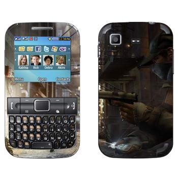 Виниловая наклейка «Watch Dogs  - Невидимый» на телефон Samsung C3222 Duos