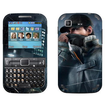 Виниловая наклейка «Watch Dogs - Aiden Pearce» на телефон Samsung C3222 Duos