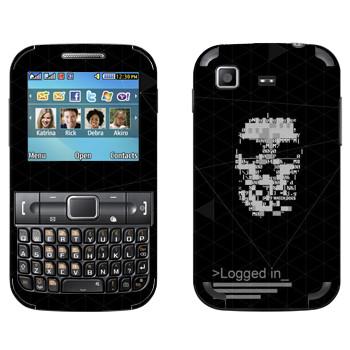 Виниловая наклейка «Watch Dogs - Logged in» на телефон Samsung C3222 Duos