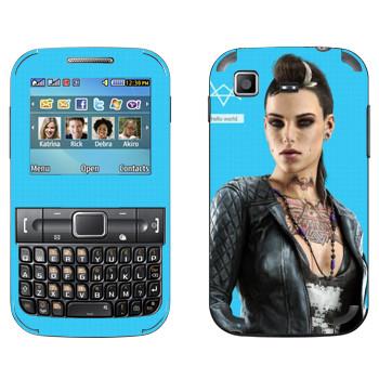 Виниловая наклейка «Watch Dogs - Клара Лилл» на телефон Samsung C3222 Duos