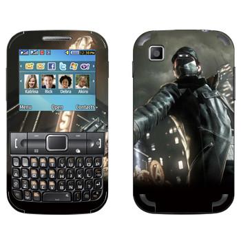 Виниловая наклейка «Watch_Dogs» на телефон Samsung C3222 Duos