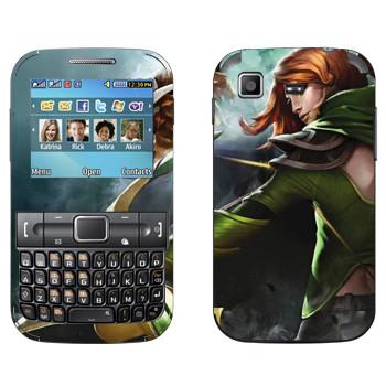 Виниловая наклейка «Windranger - Dota 2» на телефон Samsung C3222 Duos