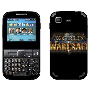 Виниловая наклейка «World of Warcraft логотип» на телефон Samsung C3222 Duos