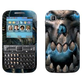Виниловая наклейка «Wow skull» на телефон Samsung C3222 Duos