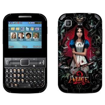 Виниловая наклейка «Алиса: безумие возвращается» на телефон Samsung C3222 Duos