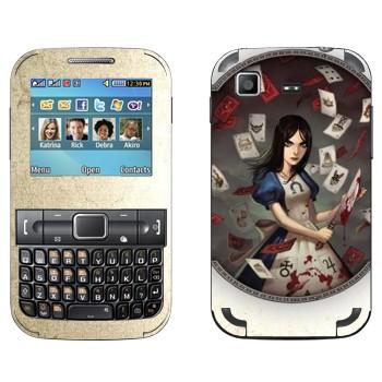 Виниловая наклейка «Алиса c ножом - Alice: Madness Returns» на телефон Samsung C3222 Duos