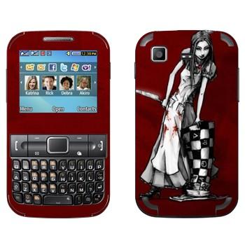 Виниловая наклейка «Алиса черно-белая - Алиса: безумие возвращается» на телефон Samsung C3222 Duos