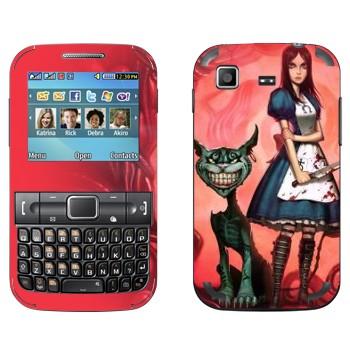 Виниловая наклейка «Алиса и Чеширский кот - Алиса: безумие возвращается» на телефон Samsung C3222 Duos