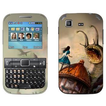Виниловая наклейка «Алиса и гигантская улитка - Alice: Madness Returns» на телефон Samsung C3222 Duos