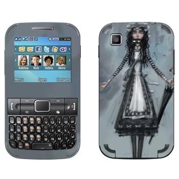 Виниловая наклейка «Алиса с зонтом - Alice: Madness Returns» на телефон Samsung C3222 Duos