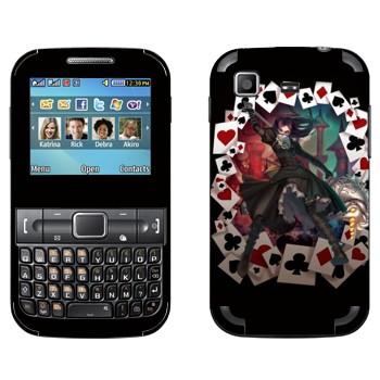Виниловая наклейка «Алиса в окружении карт - Alice: Madness Returns» на телефон Samsung C3222 Duos