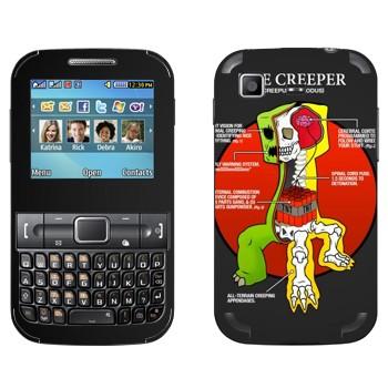 Виниловая наклейка «Анатомия крипера - Minecraft» на телефон Samsung C3222 Duos