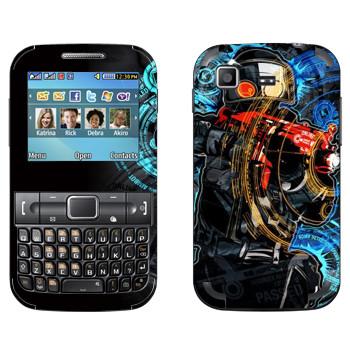 Виниловая наклейка «Антитеррор» на телефон Samsung C3222 Duos