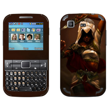 Виниловая наклейка «Assassins creed девушка» на телефон Samsung C3222 Duos