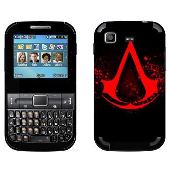 Виниловая наклейка «Assassins creed кровавое лого» на телефон Samsung C3222 Duos