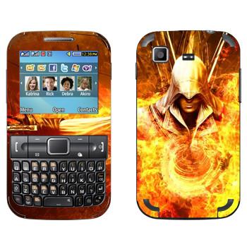 Виниловая наклейка «Assassins creed огонь» на телефон Samsung C3222 Duos
