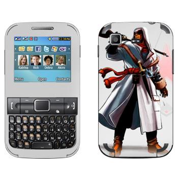 Виниловая наклейка «Assassins creed по-русски» на телефон Samsung C3222 Duos