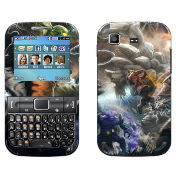 Виниловая наклейка «Битва в Dota 2» на телефон Samsung C3222 Duos