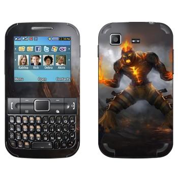 Виниловая наклейка «Брэнд - Пылающее возмездие» на телефон Samsung C3222 Duos