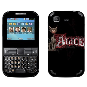 Виниловая наклейка «Чеширский Кот - American McGee's Alice» на телефон Samsung C3222 Duos