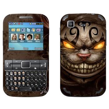 Виниловая наклейка «Чеширский Кот - Алиса в стране чудес» на телефон Samsung C3222 Duos