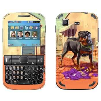 Виниловая наклейка «Чоп - GTA5» на телефон Samsung C3222 Duos