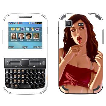 Виниловая наклейка «Chupa Chups девочка - GTA 5» на телефон Samsung C3222 Duos