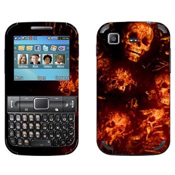 Виниловая наклейка «Dark Souls кости» на телефон Samsung C3222 Duos