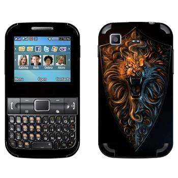 Виниловая наклейка «Dark Souls лев» на телефон Samsung C3222 Duos