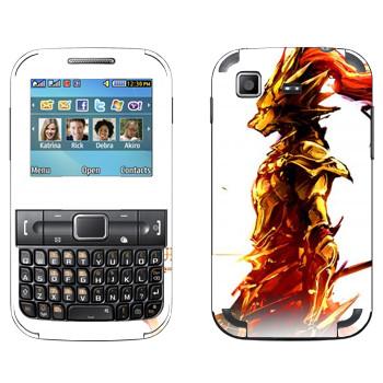 Виниловая наклейка «Dark Souls Огонь» на телефон Samsung C3222 Duos