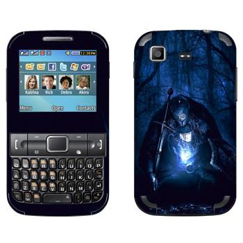 Виниловая наклейка «Dark Souls рыцарь» на телефон Samsung C3222 Duos