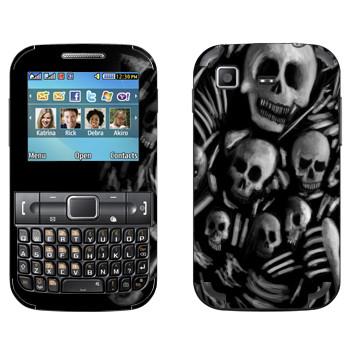 Виниловая наклейка «Dark Souls скелеты» на телефон Samsung C3222 Duos