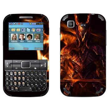 Виниловая наклейка «Dark Souls Воин» на телефон Samsung C3222 Duos