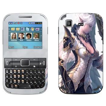 Виниловая наклейка «Девушка-воительница - Lineage 2» на телефон Samsung C3222 Duos